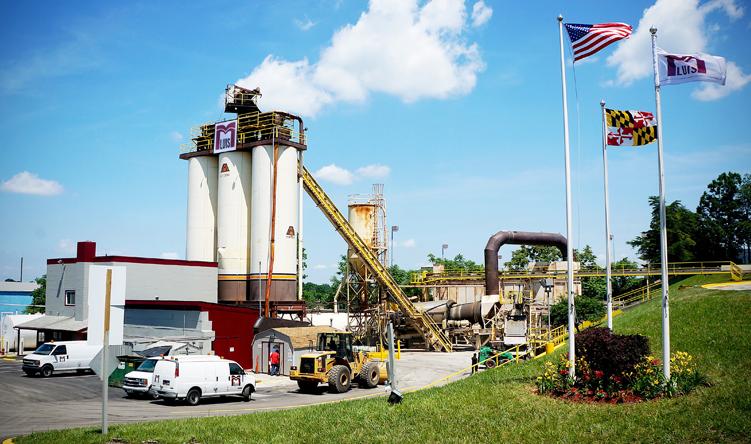 Asphalt manufacturing facility