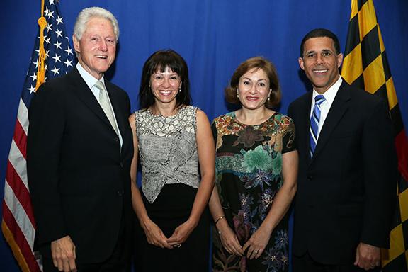 President Clinton, Natalia Luis, Cidalia Luis-Akbar, Anthony Brown