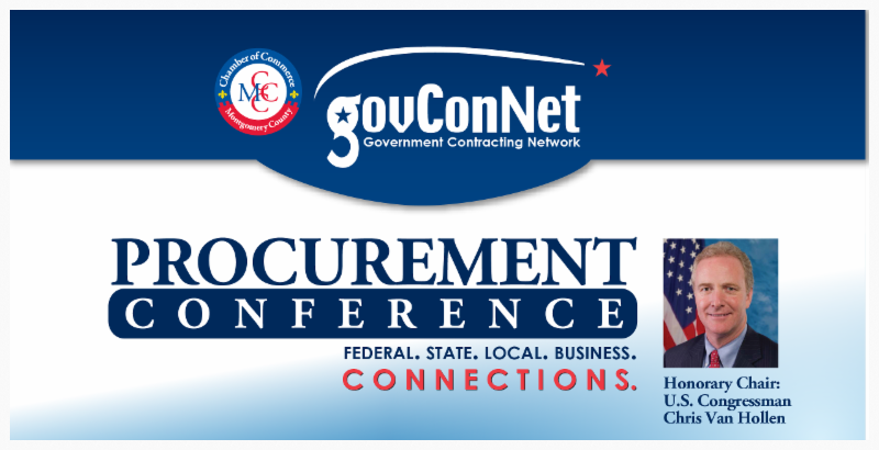 Screen capture of government contracting network conference title