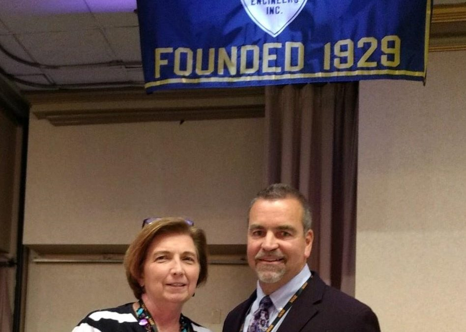 Jo Ellen Sines and David Ferrara, incoming and outgoing presidents of Maryland Association of Engineers
